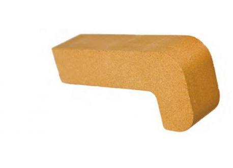 Vuurvaste steen 220x100x40mm (hoeksteen) - 3272