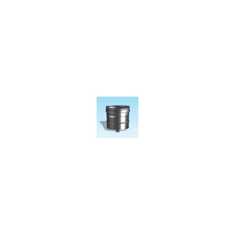 Enkelwandig rookkanaal RVS, condensdop, diameter Ø160 - 3312