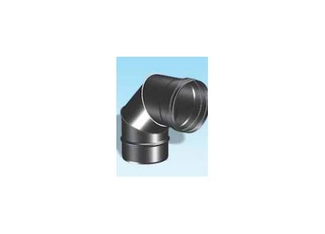Enkelwandig rookkanaal RVS, bocht 90° graden, diameter Ø160 - 3315