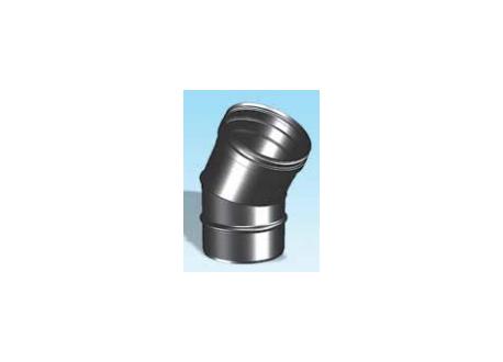 Enkelwandig rookkanaal RVS, bocht 30° graden, diameter Ø160 - 3317