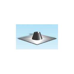 Rookkanaal RVS, 0°-5° dakdoorvoer/dakplaat plat, diameter Ø160 - 3321