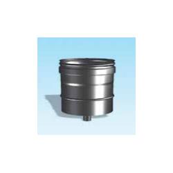 Enkelwandig rookkanaal RVS, condensdop, diameter Ø110