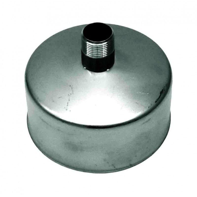 Rookkanaal RVS, Deksel/condens afvoer, diameter Ø350