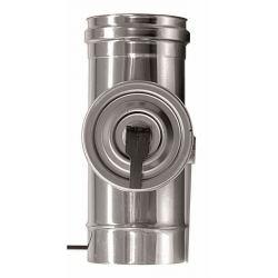 Enkelwandige rookkanaal RVS, Inspectiesectie 200mm, diameter Ø150