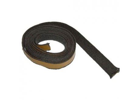 Kachelkoord zwart met plakrand, 2.5m, 15mm  - 3743