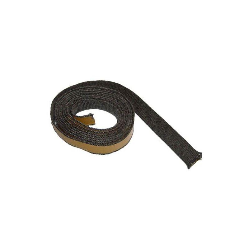 Kachelkoord zwart met plakrand, 2.5m, 20mm  - 3744