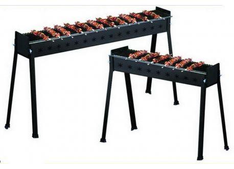 Houtskool barbecue, 60x15x70 cm, voor Kebab of kip spiesjes - 3747