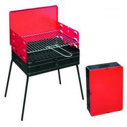 Houtskool barbecue, 40x30x72 cm, inklapbare/draagbare BBQ