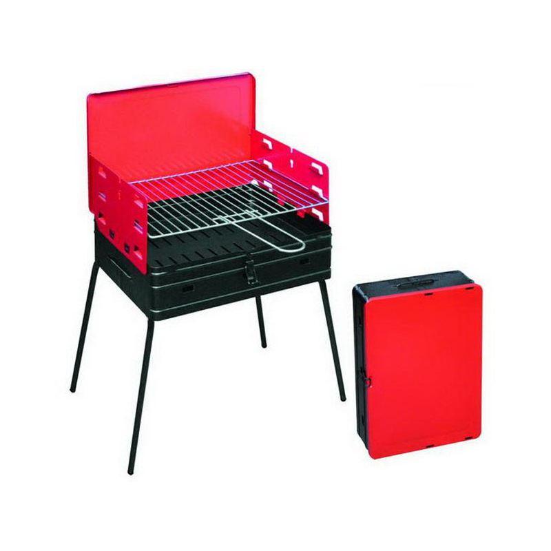 Draagbare houtskoolbarbecue (BBQ),