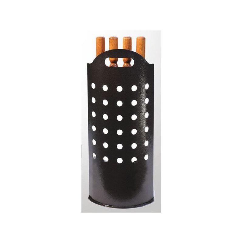 Haardstel 4-delig geperforeerd design (25x60cm) - 3814