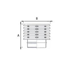 Enkelwandig rookkanaal RVS, trekkende regenkap lamelle, diameter Ø120 - 3840