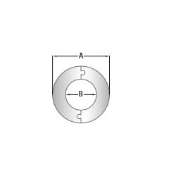 RVS rozet deelbaar, diameter Ø220 - 3878