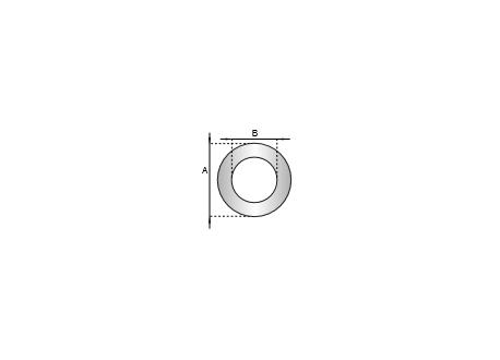 Rozet siliconen wit, diameter Ø60 - 3934