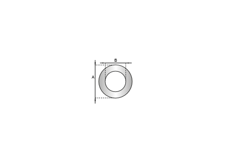 Rozet siliconen wit, diameter Ø100