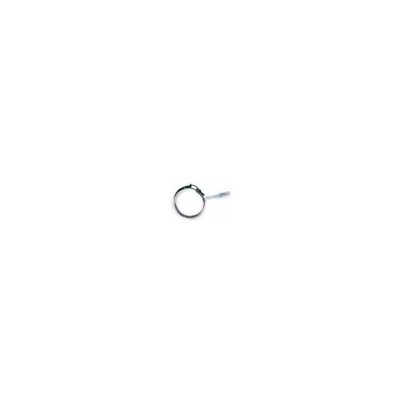 Kachelpijp zwart RVS, verstelbare Muurbeugel, diameter Ø130-180mm