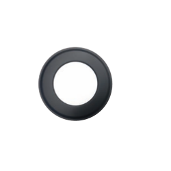Rozet zwart, diameter Ø200