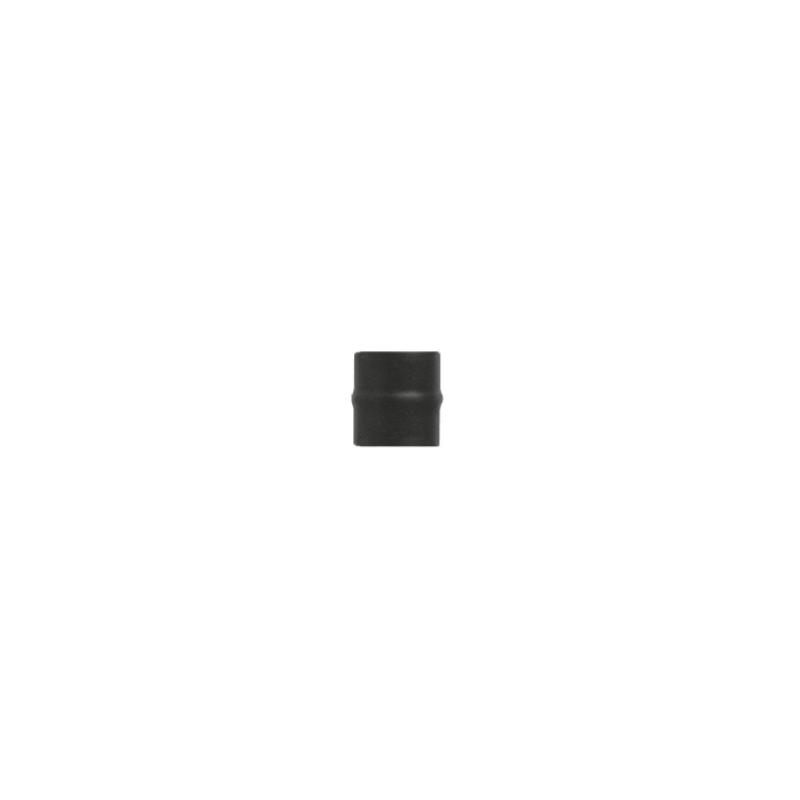 Kachelpijp zwart RVS, Aansluitstuk mannelijk-mannelijk, diameter Ø130