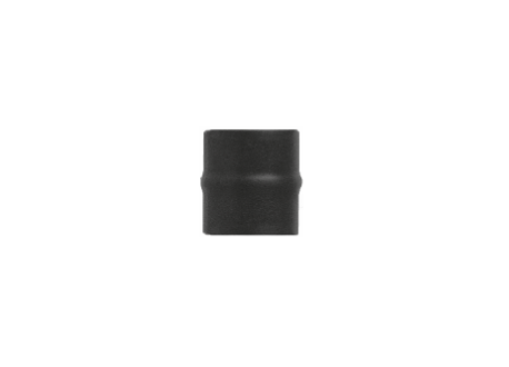Kachelpijp zwart geëmailleerd, Aansluitstuk mannelijk, diameter Ø130
