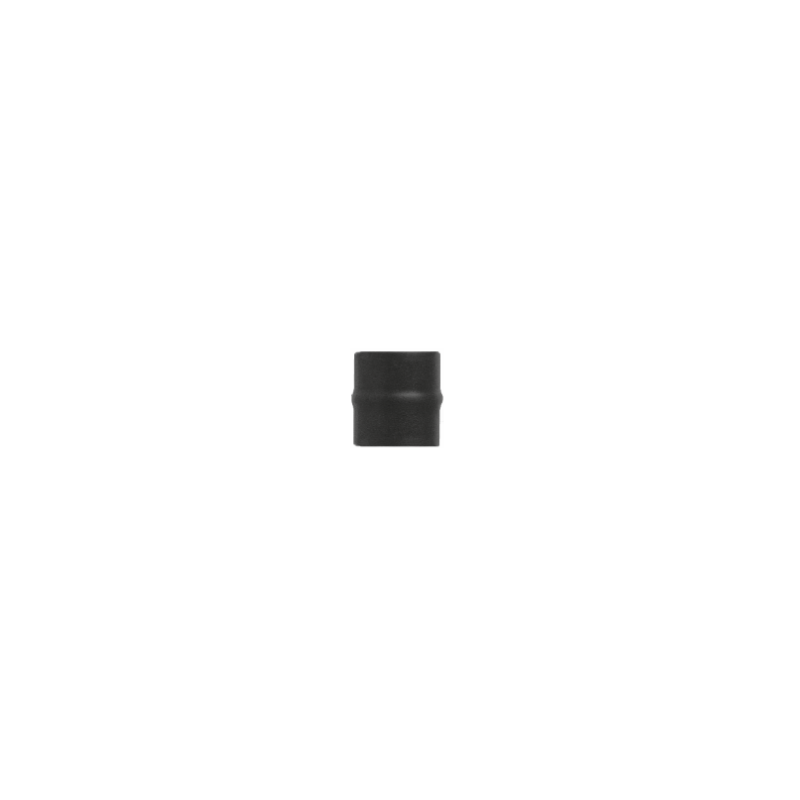 Kachelpijp zwart RVS, Aansluitstuk mannelijk-mannelijk, diameter Ø140
