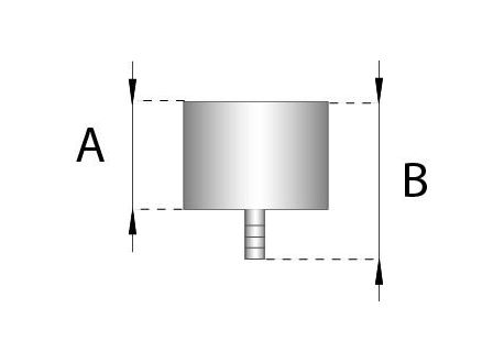 Rookkanaal RVS, Deksel/condensafvoer, diameter Ø200 - 466