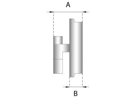 Enkelwandig rookkanaal RVS, Inspectiedeksel, diameter Ø150