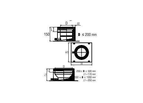 Dubbelwandig rookkanaal RVS, plaat met condensafvoer, diameter Ø400-450 - 4813