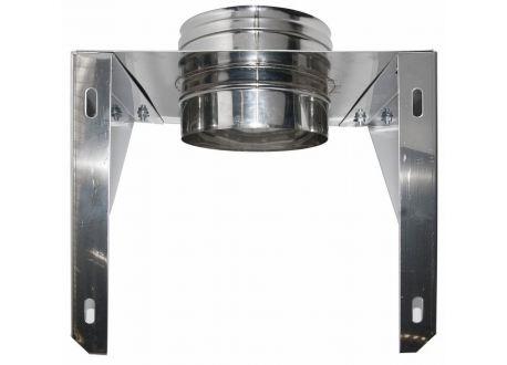 Enkelwandig rookkanaal RVS, Stoelconstructie, diameter Ø200