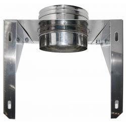 Enkelwandig rookkanaal RVS, Stoelconstructie, diameter Ø250 - 490