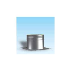 Dubbelwandig rookkanaal RVS, beginelement met condensafvoer en ondersteuningsplaat, diameter Ø400/450