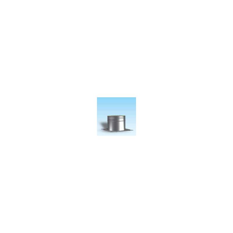 Dubbelwandig rookkanaal RVS, beginelement met condensafvoer en ondersteuningsplaat, diameter Ø400/450 - 4949