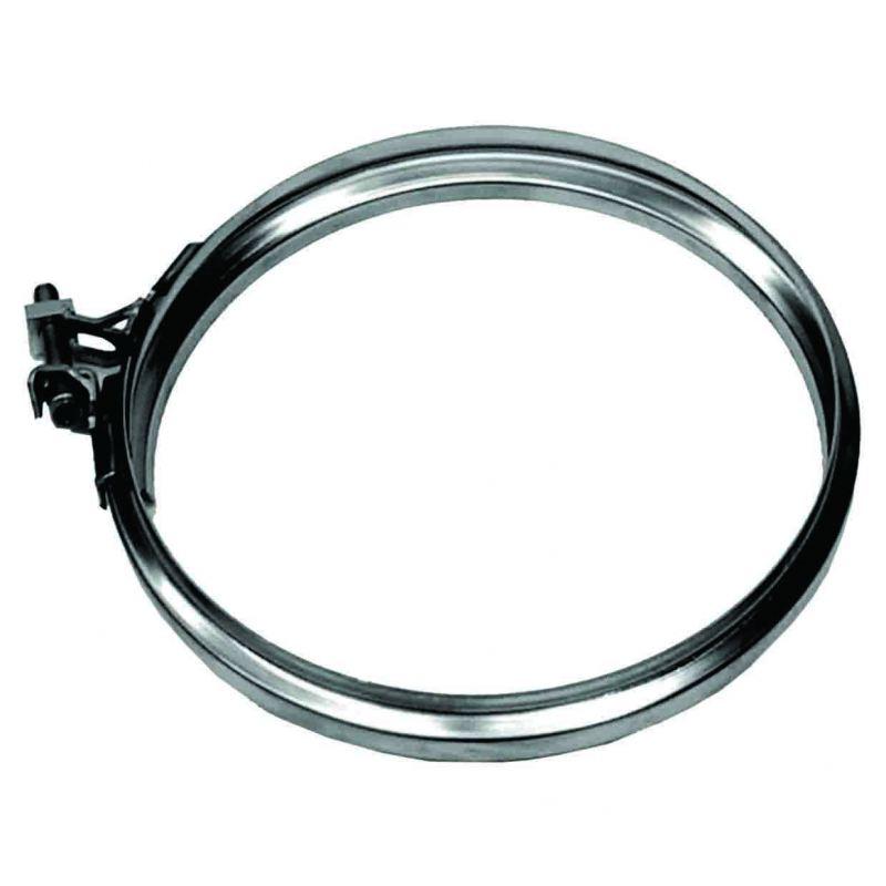 Enkelwandig rookkanaal RVS, Klemband, diameter Ø150
