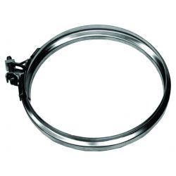 Enkelwandig rookkanaal RVS, Klemband, diameter Ø200