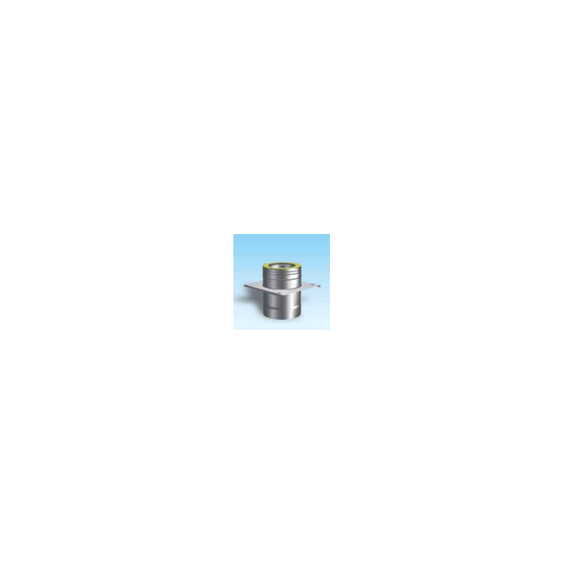Dubbelwandig rookkanaal RVS, Topaansluiting, diameter Ø80-130mm - 5040