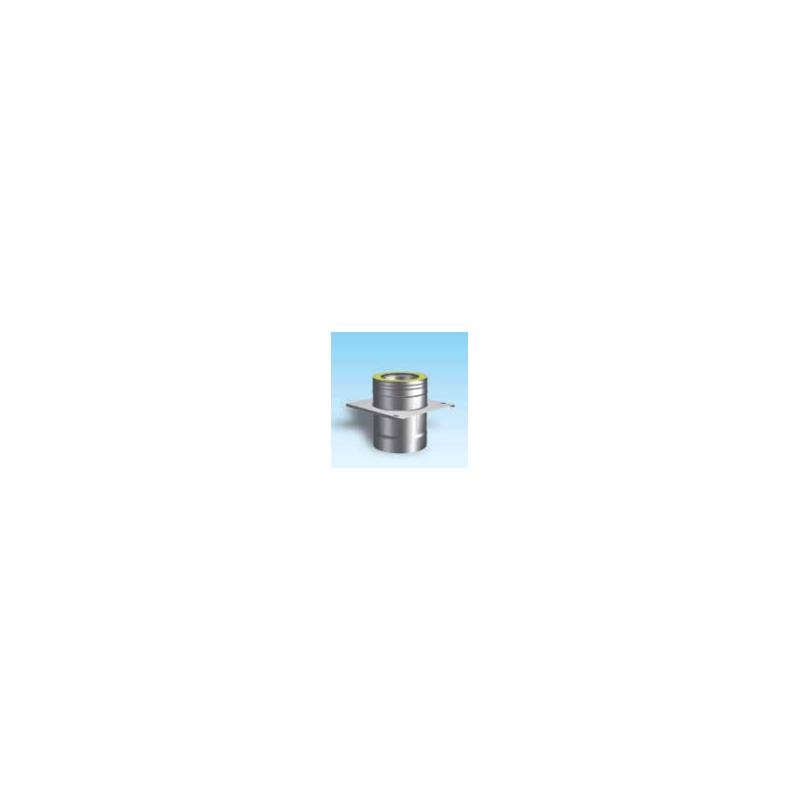 Dubbelwandig rookkanaal RVS, Topaansluiting, diameter Ø350-400mm
