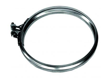 Enkelwandig rookkanaal RVS, Klemband, diameter Ø250