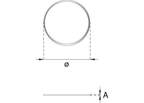 Enkelwandig rookkanaal RVS, Afdichtrubber, diameter Ø150