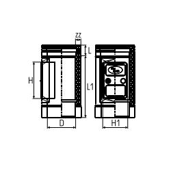 Dubbelwandig rookkanaal RVS, Inspectiesectie, diameter Ø250-300