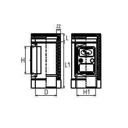 Dubbelwandig rookkanaal RVS, Inspectiesectie 300mm, diameter Ø350-400 - 5231