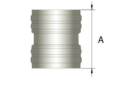 Flexibel dubbelwandig rookkanaal, verbindingsstuk FLEX-FLEX Ø250mm