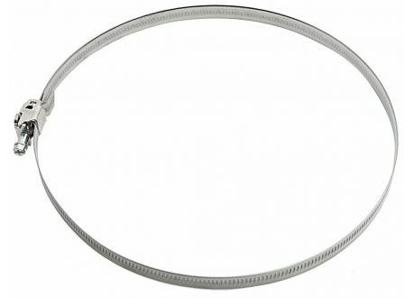 Flexibel dubbelwandig rookkanaal, verstelbare klemband Ø60-215mm