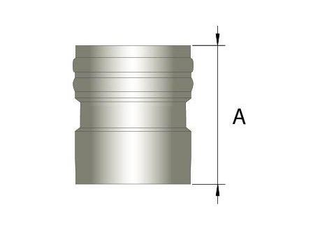 Flexibel rookkanaal, verbindingsstuk FLEX-EW Ø100mm (mannelijk)