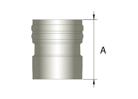 Flexibel rookkanaal, verbindingsstuk FLEX-EW Ø250mm (vrouwelijk)