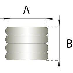Flexibel rookkanaal, diameter Ø130, 1000mm pijp