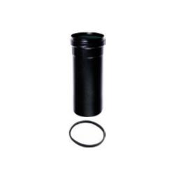 Pelletkachel rookkanaal zwart, telescoopelement 300-600mm, diameter Ø80mm.