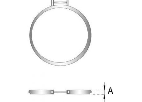 Rookkanaal RVS, Klemband, diameter Ø80
