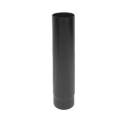 Kachelpijp zwart geëmailleerd staal, diameter Ø130, 1000mm pijp