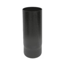 Kachelpijp zwart geëmailleerd staal, diameter Ø120, 500mm pijp - 6266