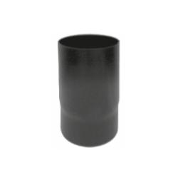 Kachelpijp zwart geëmailleerd staal, diameter Ø120, 250mm pijp - 6282