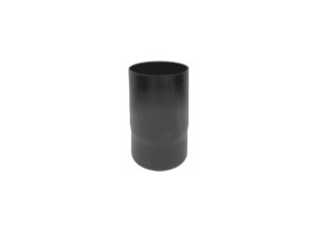 Kachelpijp zwart geëmailleerd staal, diameter Ø120, 250mm pijp