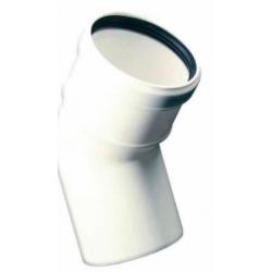Kunststof rookkanaal, 45° bocht, diameter Ø80mm, wit